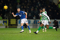 29th January 2020; McDairmid Park, Perth, Perth and Kinross, Scotland; Scottish Premiership Football, St Johnstone versus Celtic; David Wotherspoon of St Johnstone clears from Olivier Ntcham of Celtic