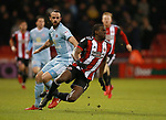 Marc Wilson of Sunderland fouls Clayton Donaldson of Sheffield Utd  during the Championship match at Bramall Lane Stadium, Sheffield. Picture date 26th December 2017. Picture credit should read: Simon Bellis/Sportimage