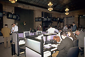 Budapest, Hungary. People working on computer at the Stock Exchange.