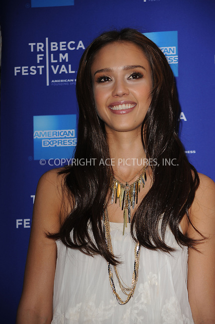 WWW.ACEPIXS.COM . . . . . ....April 27 2010, New York City....Actress Jessica Alba arriving at the premiere of 'The Killer Inside Me' during the 2010 Tribeca Film Festival at the School of Visual Arts Theater on April 27, 2010 in New York City. ....Please byline: KRISTIN CALLAHAN - ACEPIXS.COM.. . . . . . ..Ace Pictures, Inc:  ..(212) 243-8787 or (646) 679 0430..e-mail: picturedesk@acepixs.com..web: http://www.acepixs.com