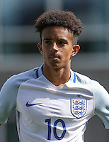 Jacob Maddox (Chelsea) of England U19 during the International match between England U19 and Netherlands U19 at New Bucks Head, Telford, England on 1 September 2016. Photo by Andy Rowland.