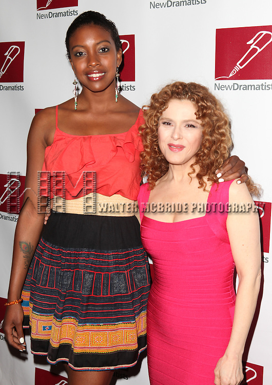 Condola Rashad & Bernadette Peters.attending the New Dramatists 63rd Annual Spring Luncheon to Honor Bernadette Peters at the Marriott Marquis Hotel in New York City on 5/24/2012 © Walter McBride/WM Photography .