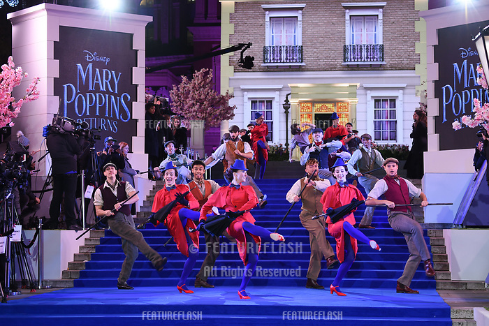 LONDON, UK. December 12, 2018: performers at the UK premiere of &quot;Mary Poppins Returns&quot; at the Royal Albert Hall, London.<br /> Picture: Steve Vas/Featureflash