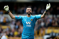 Wolverhampton Wanderers' Rui Patricio celebrates his side's first goal <br /> <br /> Photographer Rachel Holborn/CameraSport<br /> <br /> The Premier League - Wolverhampton Wanderers v Burnley - Sunday 16th September 2018 - Molineux - Wolverhampton<br /> <br /> World Copyright &copy; 2018 CameraSport. All rights reserved. 43 Linden Ave. Countesthorpe. Leicester. England. LE8 5PG - Tel: +44 (0) 116 277 4147 - admin@camerasport.com - www.camerasport.com
