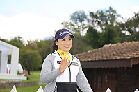 World No.1 So Yeon Ryu (KOR) on course during Tuesday's Practice Day of The Evian Championship 2017, the final Major of the ladies season, held at Evian Resort Golf Club, Evian-les-Bains, France. 12th September 2017.<br /> Picture: Eoin Clarke | Golffile<br /> <br /> <br /> All photos usage must carry mandatory copyright credit (&copy; Golffile | Eoin Clarke)
