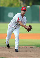Starting pitcher Scott Swinson (38) of the Greenville Drive, Class A affiliate of the Boston Red Sox, in a game against the Augusta GreenJackets on August 27, 2011, at Fluor Field at the West End in Greenville, South Carolina. Greenville defeated Augusta, 10-4. (Tom Priddy/Four Seam Images)