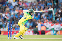 Adam Zampa (Australia) drives through point during India vs Australia, ICC World Cup Cricket at The Oval on 9th June 2019