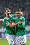 08.03.2019, Weser Stadion, Bremen, GER, 1.FBL, Werder Bremen vs FC Schalke 04, <br /> <br /> DFL REGULATIONS PROHIBIT ANY USE OF PHOTOGRAPHS AS IMAGE SEQUENCES AND/OR QUASI-VIDEO.<br /> <br />  im Bild<br /> <br /> jubel Milot Rashica (Werder Bremen #11) zum 3:1 mit Max Kruse (Werder Bremen #10)<br /> <br /> Foto &copy; nordphoto / Kokenge