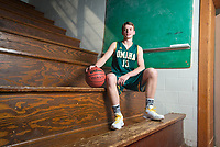 NWA Democrat-Gazette/CHARLIE KAIJO Division II Boys Player of the Year Garrett Matlock of Omaha High School poses for a portrait, Thursday, March 15, 2018 at Springdale High School auxiliary gym in Springdale