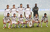 CARSON, CA – OCTOBER 24: LA Galaxy starting lineup for the soccer match at the Home Depot Center, October 24, 2010 in Carson, California. Final score LA Galaxy 2, Dallas FC 1.