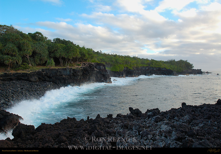 Puna Coast at Dawn, Aa Lava, Big Island of Hawaii