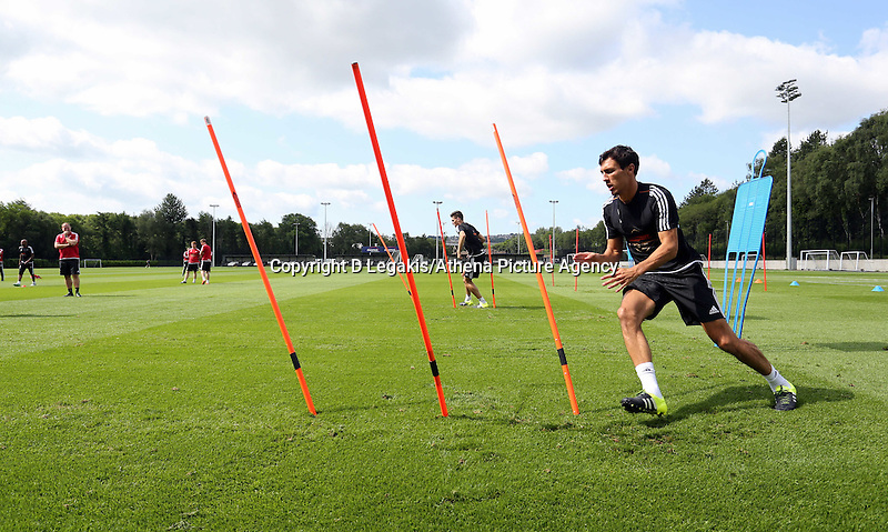 Thursday 09 July 2015<br /> Pictured: Jack Cork<br /> Re: Swansea City FC pre-season training at Landore training ground, Swansea, south Wales, UK.