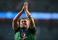 Tadhg Furlong of Ireland celebrates after the match. Natwest 6 Nations match between England and Ireland on March 17, 2018 at Twickenham Stadium in London, England. Photo by: Patrick Khachfe / Onside Images