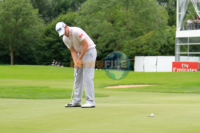 Gary Boyd (ENG) misses his putt on the 18th green during of Day 3 of the BMW International Open at Golf Club Munchen Eichenried, Germany, 25th June 2011 (Photo Eoin Clarke/www.golffile.ie)