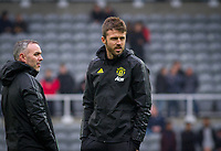 Man Utd assistant coach Michael Carrick during the Premier League match between Newcastle United and Manchester United at St. James's Park, Newcastle, England on 6 October 2019. Photo by J GILL / PRiME Media Images.