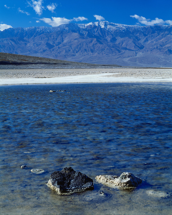 View of Bad Water below the Panamint Range; Death Valley National Park, CA