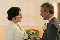 Ep 5 - John Simm as Jonah and Dervla Kirwan as Megan<br /> White Dragon (2018 - )<br /> Strangers (original title)<br /> *Filmstill - Editorial Use Only*<br /> CAP/RFS<br /> Image supplied by Capital Pictures