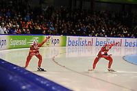 SCHAATSEN: HEERENVEEN: 28-12-2013, IJsstadion Thialf, KNSB Kwalificatie Toernooi (KKT), 500m, Thijsje Oenema, Mayon Kuipers, ©foto Martin de Jong