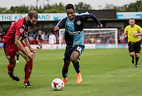 Jason Banton of Wycombe Wanderers during the Sky Bet League 2 match between Crawley Town and Wycombe Wanderers at Checkatrade.com Stadium, Crawley, England on 29 August 2015. Photo by Liam McAvoy.