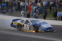Apr 20, 2007; Avondale, AZ, USA; Nascar Busch Series driver Shane Huffman (88) heads to the garage after crashing during the Bashas Supermarkets 200 at Phoenix International Raceway. Mandatory Credit: Mark J. Rebilas