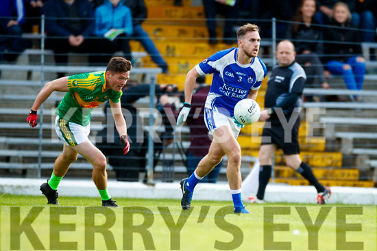 Oran Clifford South Kerry in action against Ross O'Callaghan Kerins O'Rahillys in the Kerry Senior Football Championship Semi Final at Fitzgerald Stadium on Saturday.