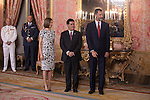 Spanish Royals King Felipe VI of Spain and Queen Letizia of Spain receive Paraguayan President Horacio Manuel Cartes Jara at the Royal Palace in Madrid, Spain. June 09, 2015. (ALTERPHOTOS/Pool)