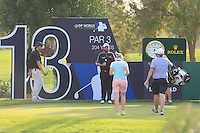 Shane Lowry (IRL) getting some cold drinks from his brother Alan and girlfriend Kate Whyte on the 13th tee during the Pro-Am for the DP World Tour Championship at the Jumeirah Golf Estates in Dubai, UAE on Monday 16/11/15.<br /> Picture: Golffile | Thos Caffrey<br /> <br /> All photo usage must carry mandatory copyright credit (&copy; Golffile | Thos Caffrey)
