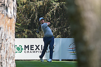Jon Rahm (ESP) watches his tee shot on 16 during the preview of the World Golf Championships, Mexico, Club De Golf Chapultepec, Mexico City, Mexico. 2/28/2018.<br /> Picture: Golffile | Ken Murray<br /> <br /> <br /> All photo usage must carry mandatory copyright credit (&copy; Golffile | Ken Murray)