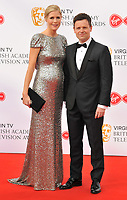 Ali Astall and Declan Donnelly at the Virgin TV British Academy (BAFTA) Television Awards 2018, Royal Festival Hall, Belvedere Road, London, England, UK, on Sunday 13 May 2018.<br /> CAP/CAN<br /> &copy;CAN/Capital Pictures