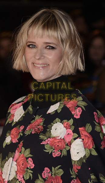 Edith Bowman .'Gambit' world film premiere, Empire cinema, Leicester Square, London, England..7th November 2012..headshot portrait black pink white floral print green red jacket coat high collar polo neck turtleneck top .CAP/WIZ.© Wizard/Capital Pictures.