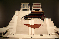 Cutaway model of the Templo Mayor or Aztec Great Teample at the Museo del Templo Mayor, Mexico City