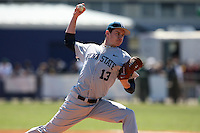 February 28, 2010:  Pitcher John Walter (13) of the Penn State Nittany Lions during the Big East/Big 10 Challenge at Raymond Naimoli Complex in St. Petersburg, FL.  Photo By Mike Janes/Four Seam Images