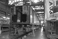 (021303-SWR04.jpg) New York, NY -- Circa 1988 - Workers repair, restore, and do routine maintenance on subway cars at the  New York City;s Transity Authority 211th Street Lay Ups.