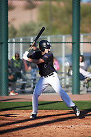 Zachary Williams (12) of College Station High School in College Station, Texas during the Baseball Factory All-America Pre-Season Tournament, powered by Under Armour, on January 13, 2018 at Sloan Park Complex in Mesa, Arizona.  (Zachary Lucy/Four Seam Images)