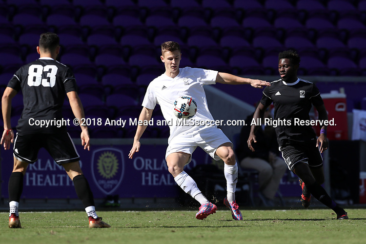 Orlando, Florida - Monday January 15, 2018: Gordon Wild. Match Day 2 of the 2018 adidas MLS Player Combine was held Orlando City Stadium.