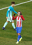 Atletico de Madrid's Antoine Griezmann (r) and FC Barcelona's Denis Suarez during Spanish Kings Cup semifinal 1st leg match. February 01,2017. (ALTERPHOTOS/Acero)