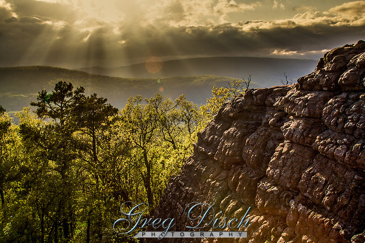Sam&rsquo;s throne is primaliy known as a premier rock climbing area in the Ozarks.<br /> <br /> The legend dates back to the 1820s. Buffalo hunter and farmer Sam Davis roamed Arkansas valleys in what is now Newton County, searching for a sister he claimed was kidnapped by Indians.<br /> <br /> Davis climbed the tall rocks every morning and yelled mighty sermons to those who lived in the valley below. The place became known as Sam&rsquo;s Throne.