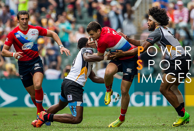 Papua New Guinea vs Russia during the HSBC Sevens Wold Series Qualifier Semi Finals match as part of the Cathay Pacific / HSBC Hong Kong Sevens at the Hong Kong Stadium on 29 March 2015 in Hong Kong, China. Photo by Manuel Bruque / Power Sport Images