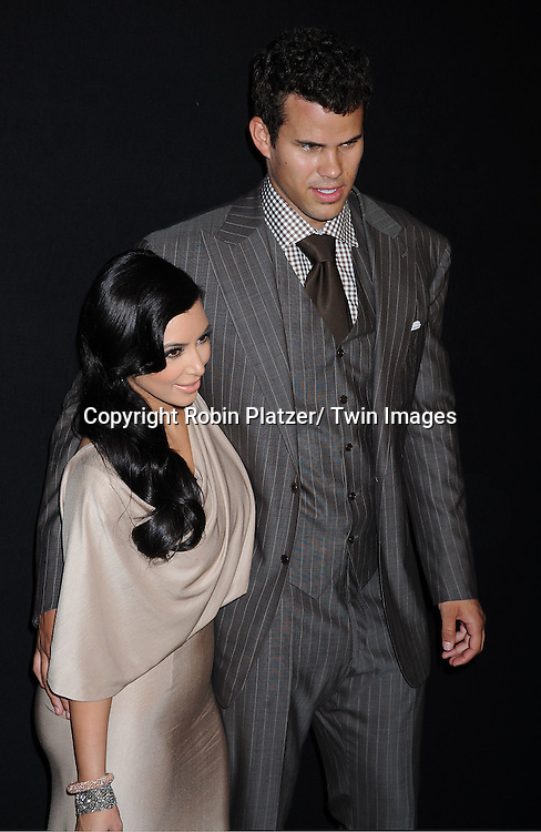 Kim Kardashian and husband Kris Humphries attending the Kim Kardashian and husband Kris Humphries Welcome to New York Party on August 31, 2011 at Capitale in New York City.