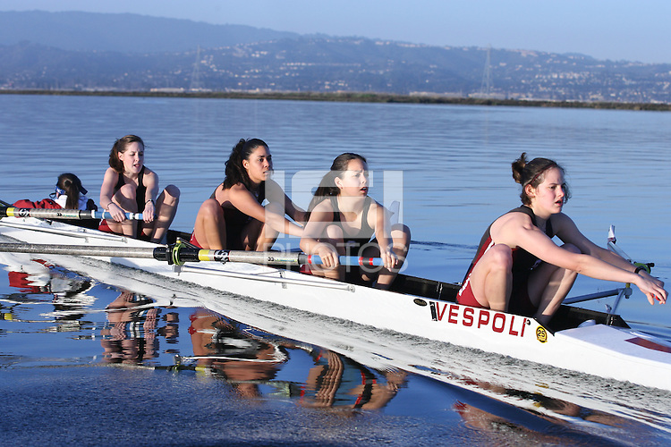 9 February 2006: Alison Teo during lightweight crew practice at Redwood Shores in Redwood Shores, CA.