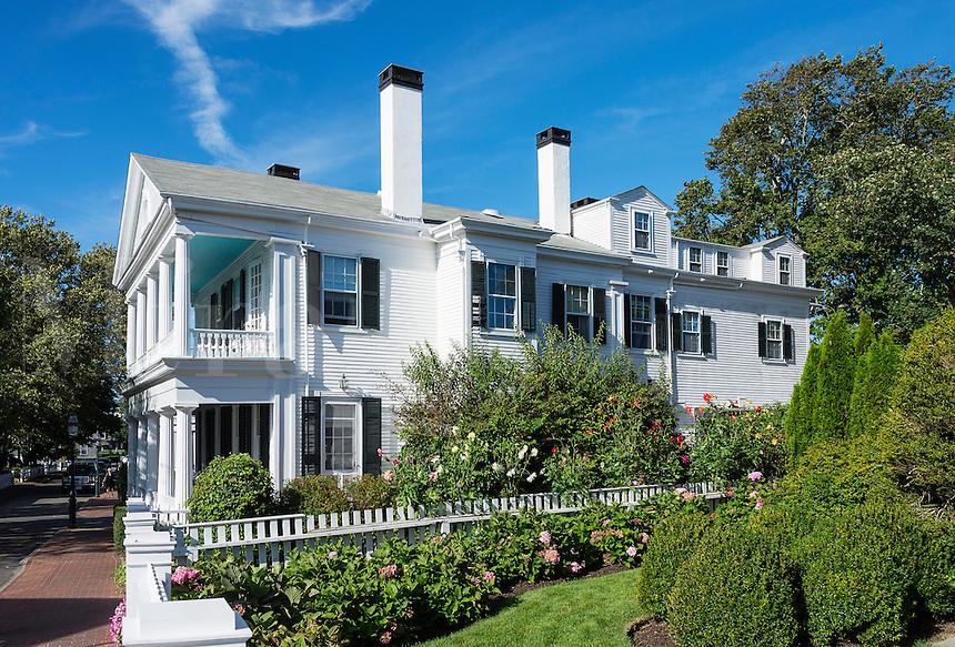 Historic captains home, Edgartown, Martha's Vineyard, Massachusetts, USA