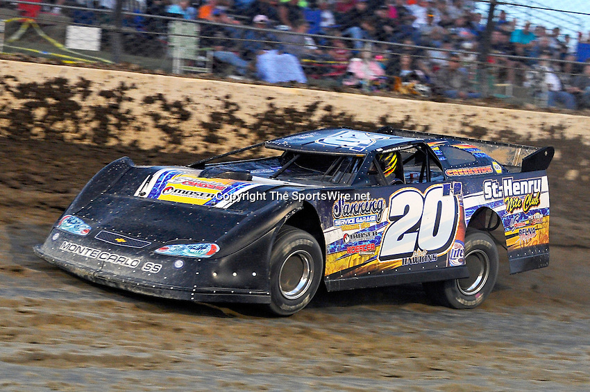 Sep 10, 2010; 8:00:30 PM; Rossburg, OH., USA; The 40th annual running of the World 100 Dirt Late Models racing for the Globe trophy at the Eldora Speedway.  Mandatory Credit: (thesportswire.net)