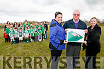 Ballyduf Ball Wall: Pictured to announce the building of a ball wall at Ballyduff GAA grounds are Mary Kennelly, Charlie farrell & Muireann O'Neill with some of the young hurlers who will use the wall when it is built.