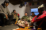 Rangers relaxing in camp during evening, Sarychat-Ertash Strict Nature Reserve, Tien Shan Mountains, eastern Kyrgyzstan
