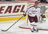 Quinn Smith (BC - 27) - The visiting University of Notre Dame Fighting Irish defeated the Boston College Eagles 7-2 on Friday, March 14, 2014, in the first game of their Hockey East quarterfinals matchup at Kelley Rink in Conte Forum in Chestnut Hill, Massachusetts.