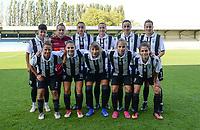 20190810 - DENDERLEEUW, BELGIUM : PAOK's players with Anthi Papakonstantinou (1) , Miljana Smiljkovic (3) ,  Eleni Kakambouki (7) , Natalia Chatzigiannidou (8) , Grigoria Pouliou (9) , Thomai Vardali (10) , Eirini Nefrou (12) , Chara Dimitriou (13) , Dimitra Karapetsa (14) ,  Maria Mitkou (17) and Anastasia Gkatsou (18) pictured posing for the teampicture during the female soccer game between the Greek PAOK Thessaloniki Ladies FC and the Northern Irish Linfield ladies FC , the second game for both teams in the Uefa Womens Champions League Qualifying round in group 8 , Wednesday 7 th August 2019 at the Van Roy Stadium in Denderleeuw  , Belgium  .  PHOTO SPORTPIX.BE | DAVID CATRY
