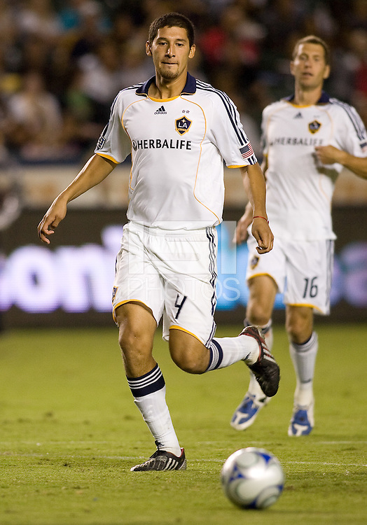 LA Galaxy rookie defender Omar Gonzalez moves to the ball. The LA Galaxy defeated the Chicago Fire 1-0 at Home Depot Center stadium in Carson, California on Friday October 2, 2009...
