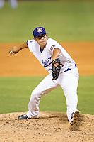 Chattanooga Lookouts relief pitcher Juan Noriega (51) in action against the Montgomery Biscuits at AT&T Field on July 24, 2014 in Chattanooga, Tennessee.  The Biscuits defeated the Lookouts 6-4. (Brian Westerholt/Four Seam Images)