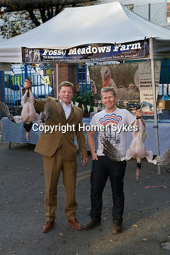 Jacob and Nick Fosse Meadows Farm at Queens Park famers market Nov 2012.