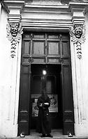 Arciconfraternita di S. Maria dell'Orazione e Morte di Via Giulia a Roma fondata nell' anno  1538.Nella Cappella della Arciconfraternita alcuni confratelli con alle spalle..Confraternity Saint Mary of the Prayer and Death.<br /> http://en.wikipedia.org/wiki/Santa_Maria_dell%27Orazione_e_Morte.